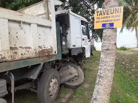 The 12 wheeler truck that collided with the twin-cab at Taveuni on November 30, 2019