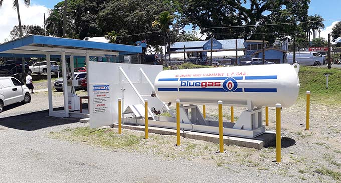 Liquefied Petroleum Gas station   Photo: Inoke Rabonu.