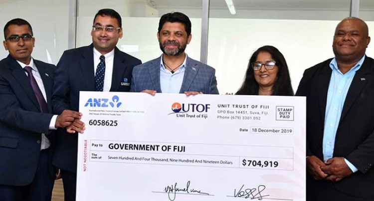 Government Receives Over $700,000 Dividend From Unit Trust Of Fiji