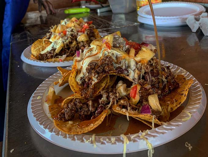 The famous nachos from The Fiji Food Truck. Photo: The Fiji Food Truck