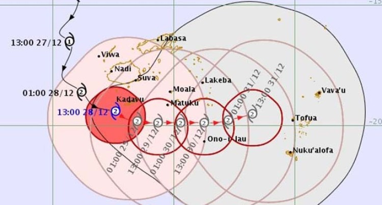 Weather Update 0800 Hours: Storm Warning Remains In Force For Kadavu, Matuku, Moala And Totoya