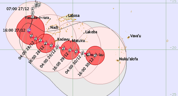 TC Sarai 8AM Update: A Storm Warning Remains In Force For Vatulele, Kadavu And Matuku