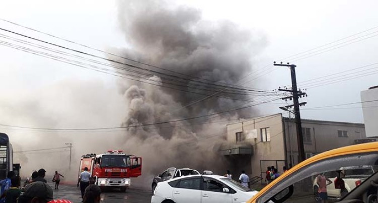 Valelevu Building Engulfed In Flames