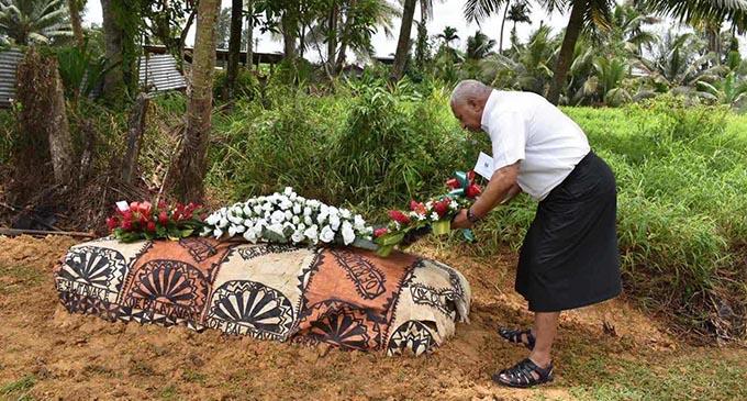 Prime Minister Voreqe Bainimarama was also present at the funeral service.