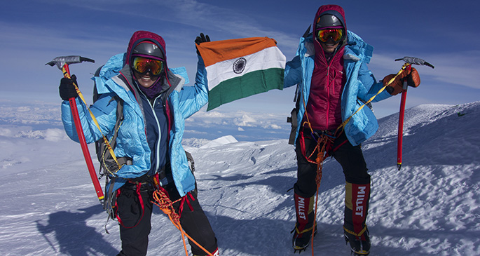 Nungshi and Tashi Malik during one of their hiking expeditions.