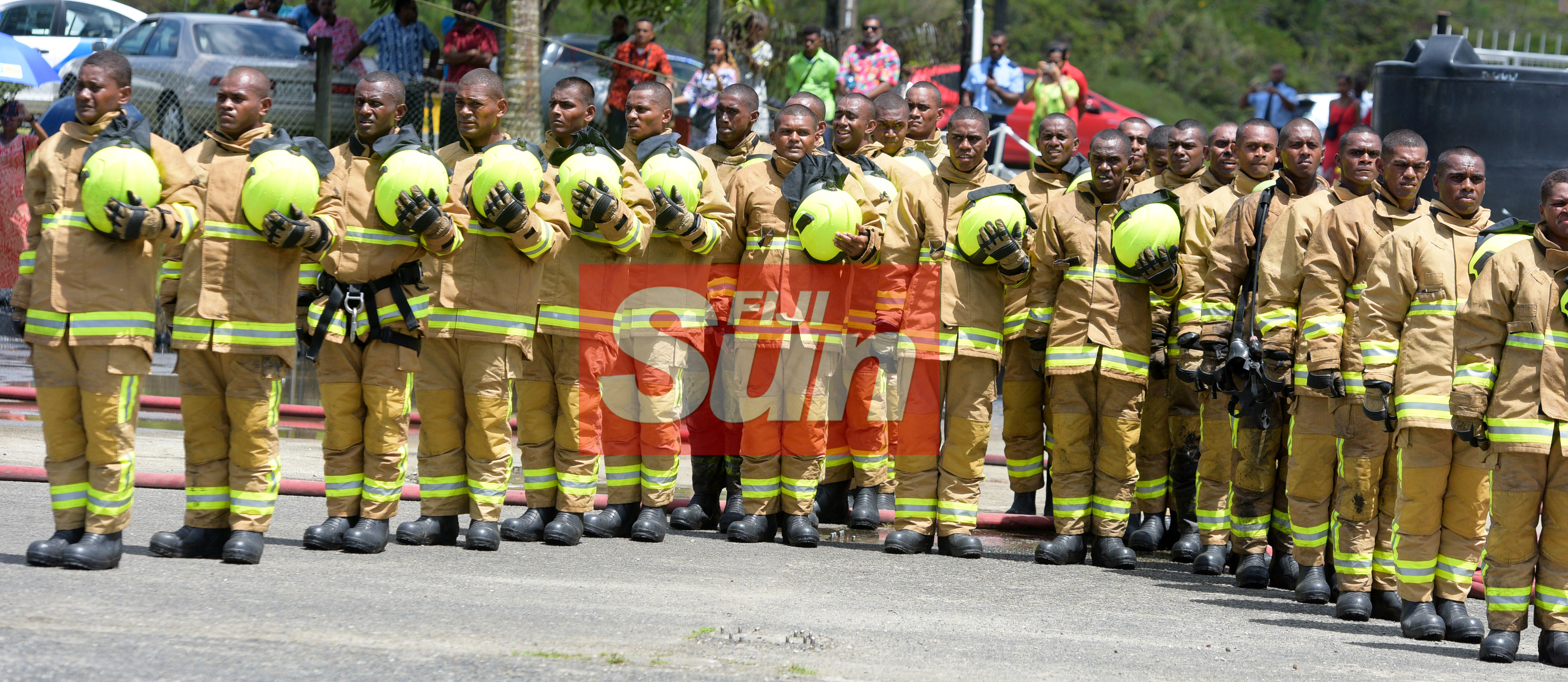68 new recruits pass out during the National Fire Authority pass out parade from Navy Training base  at Togalevu Veisari, Lami on December 11, 2019. Photo: Ronald Kumar.