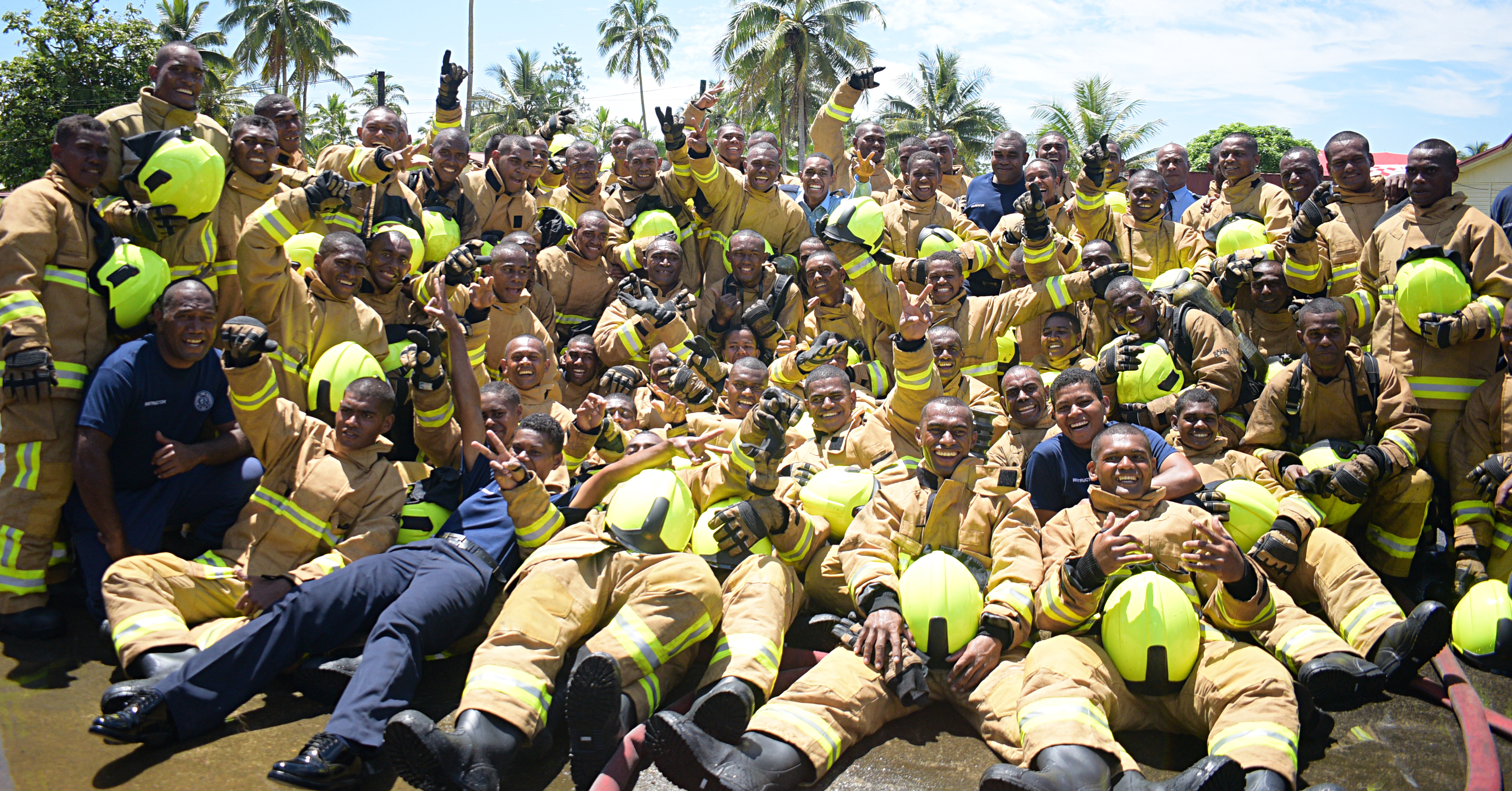 68 new recruits pass out during the National Fire Authority passing out parade at the Navy Training base at Togalevu Veisari, Lami on December 11, 2019. Photo: Ronald Kumar