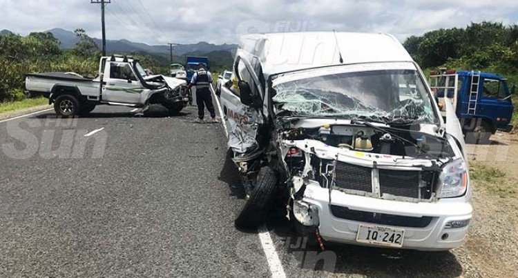 Navua Head On Collision Lands Men In Hospital
