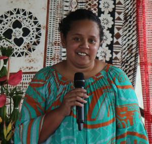 Daughter Adi Losalini Lomas sharing her eulogy. Photo: Ilaijia Ravuwai