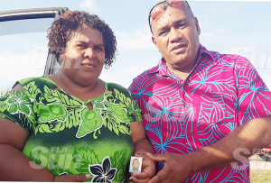 Mere Barbra and Samu Saukuru at Naviyago Village in Lautoka on December 11, 2019. Photo: Salote Qalubau
