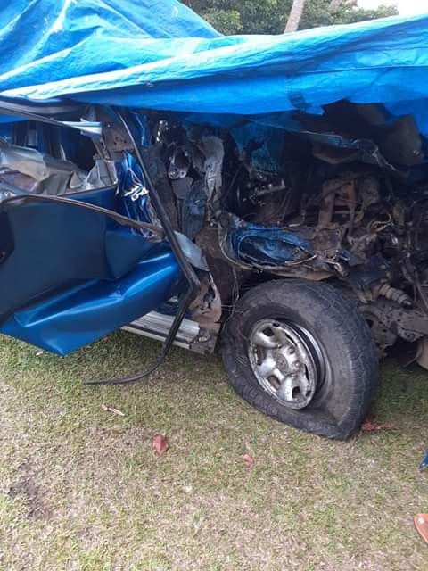 The vehicle that was involved in a head on collision with a 12 wheeler truck In Taveuni on November 30,2019.
