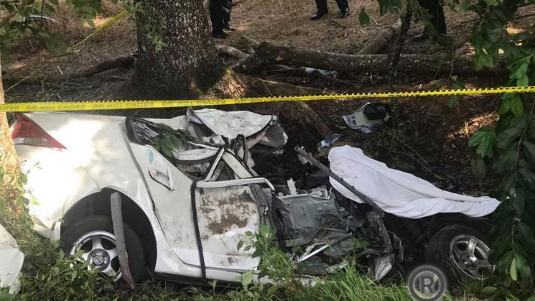 The car after the crash.