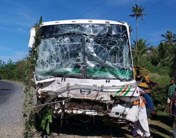 The bus that Rupeni Siganisucu drove.  Photo: Salote Qalubau