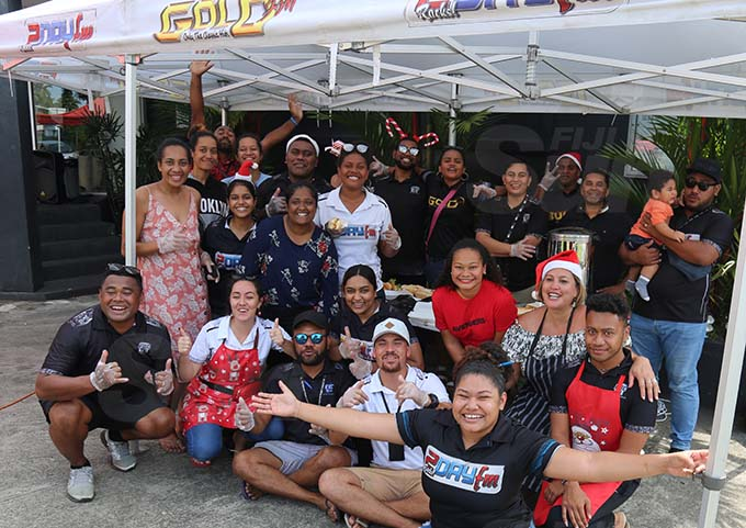 Fijian Broadcasting Corporation staff members hosted Christmas brunch for the homeless at Suva on December 25, 2019. Photo: Jennis Naidu