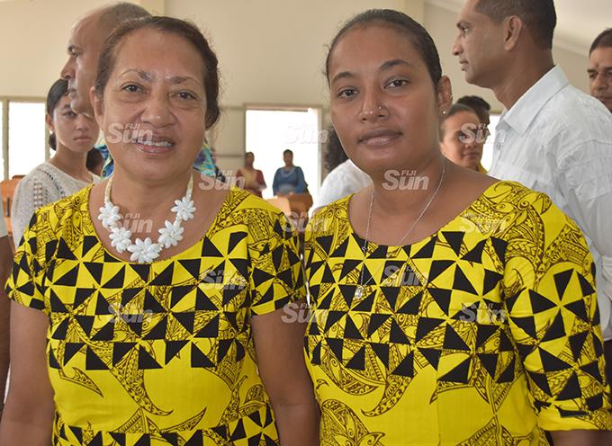 Teresa Singh (left) with her daughter Iva Singh at Kshatriya Hall in Labasa on January 29, 2020. Photo: Shratika Naidu