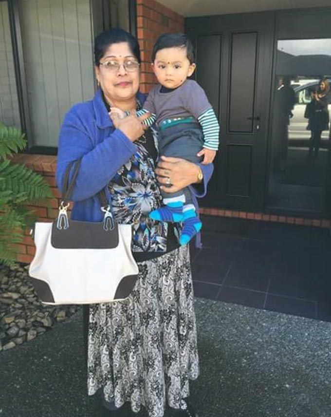 Prem Lata and four-year-old grandson, Rohan Rajveer Nath.