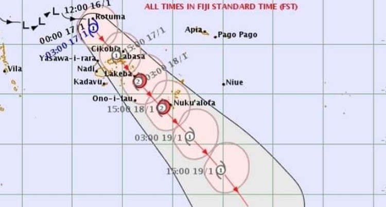 Tropical Cyclone Tino Forms