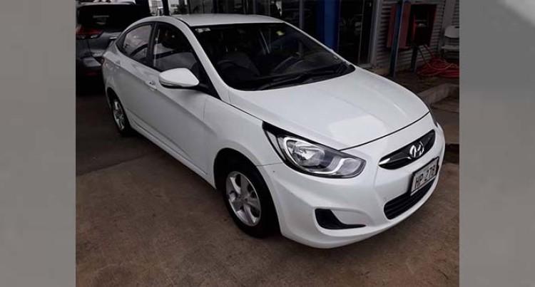 White Hyundai Accent Stolen From Dilio Street, Samabula