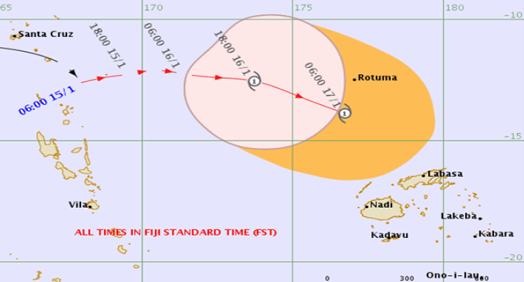 """Tropical Cyclone Alert"" Remains In Force For Rotuma"