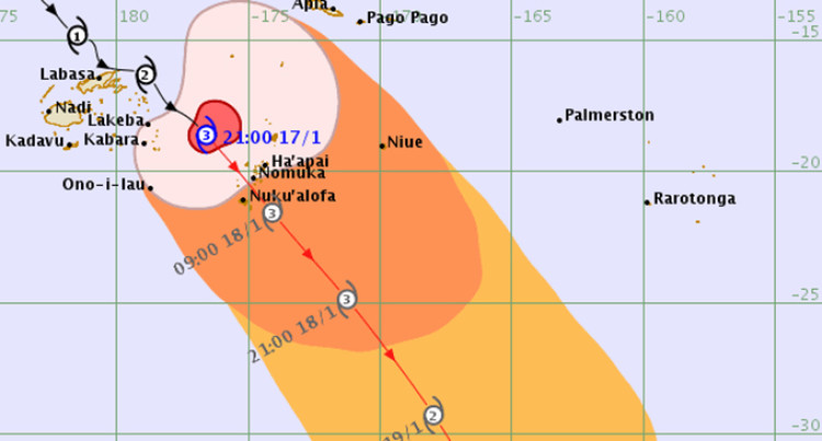 Severe Tropical Cylone Tino Now A Category 3 System, Tropical Cyclone Warning Remains For Southern Lau Islands