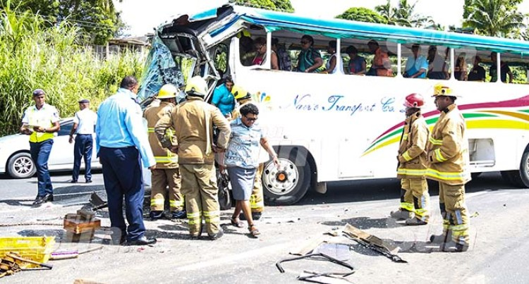 Passengers Trapped Inside Bus After Kings Road Crash