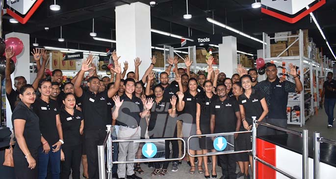 "Staff of Vinod Patel at the soft opening of their new hardware store in Namaka, Nadi, on January 11, 2020. Photo: Waisea Nasokia WAISEA NASOKIA NADI Vinod Patel opened one of their latest flagship stores in Namaka, Nadi, yesterday. The store is part of the multi-storey commercial complex owned by Consumer Supermarket, strategically located directly opposite the Namaka Market, on the corner of Queens Highway. Vinod Patel's showroom boasts modern style merchandising. Assistant General Manager (West) Nilesh Ashish Prasad during the soft opening, said the investment and expansion is not about competition but is to provide services and satisfaction. He added this is one of the best and the latest stores, and is their benchmark. ""For Vinod Patel itself, it's very important for us to look after the people in Nadi,"" he said. ""This is for the people of Nadi. The company has put an extra shop with a significant investment and now the people will have better facilities to shop in. ""Currently looking at the town shop it is already full and people are moving in a huge traffic flow so we thought we open our second store in Namaka, so that people will have easier access to do business and shopping."" Mr Prasad added, currently they"