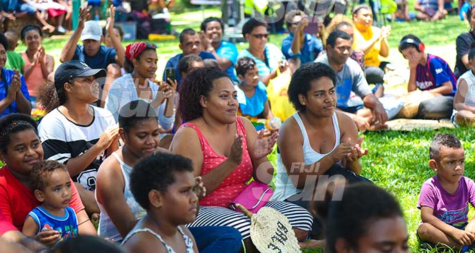 Members of the public at the 'Fiji 4 Australia Fire Concert' at Ratu Sukuna Park on January 25, 2020. Photo: Kelera Sovasiga