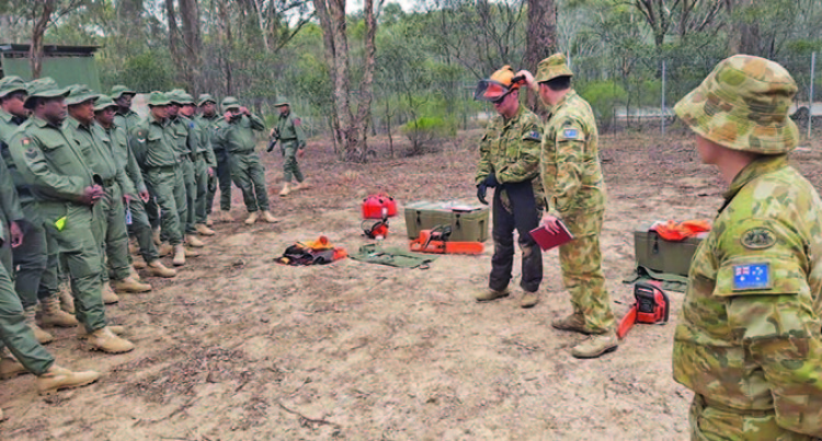 Our Soldiers Show Lots Of  Energy In Rehabilitation Work Down Under