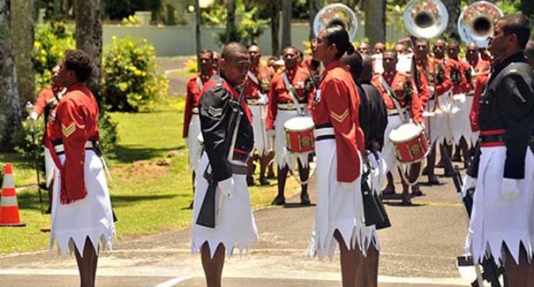 RFMF Hand Ceremonial Guards Role To The Fiji Police