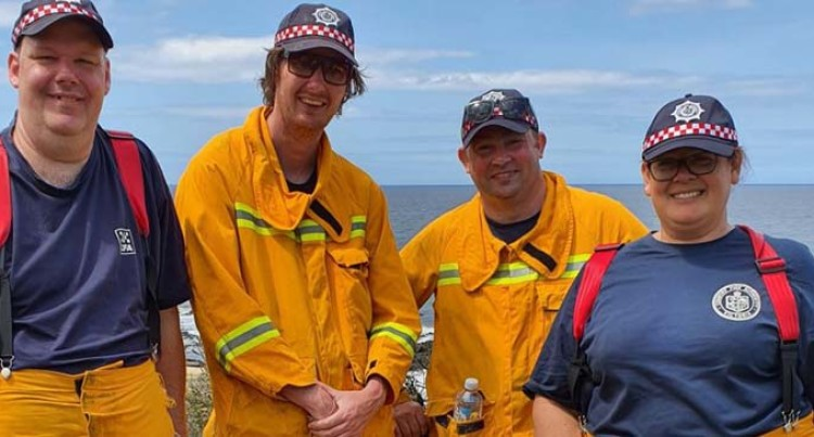 Sylvia On Front Lines Of Australian Bushfire Fight