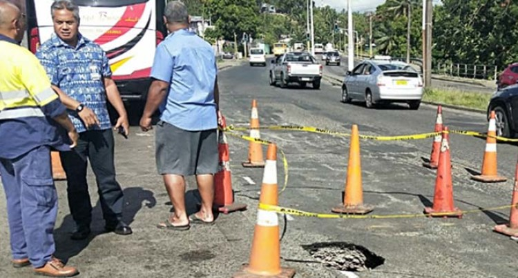 Sewer Line In Nabua Collapses