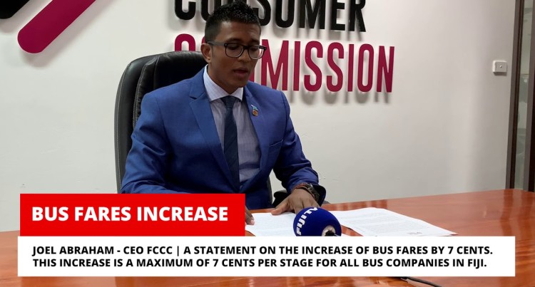 Fiji Competition and Consumer Commission Presser: Increase In Bus Fare