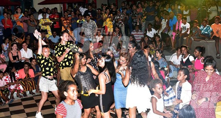 Jam-Packed Crowd Present At The Port Denarau New Year's Eve Bash