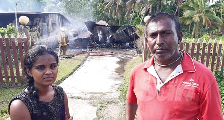 Fire, Strong Winds Leave Two Families Homeless