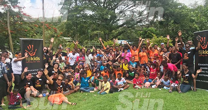 Members of the Fiji Kids charitable organisation at Sigatoka on January 9, 2019. Photo: Waisea Nasokia