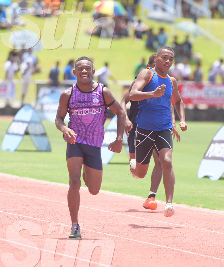 Suva Zone 1 day 2 200meters heats inter-boys action at ANZ Stadium on February 2020. Photo: Ronald Kumar.