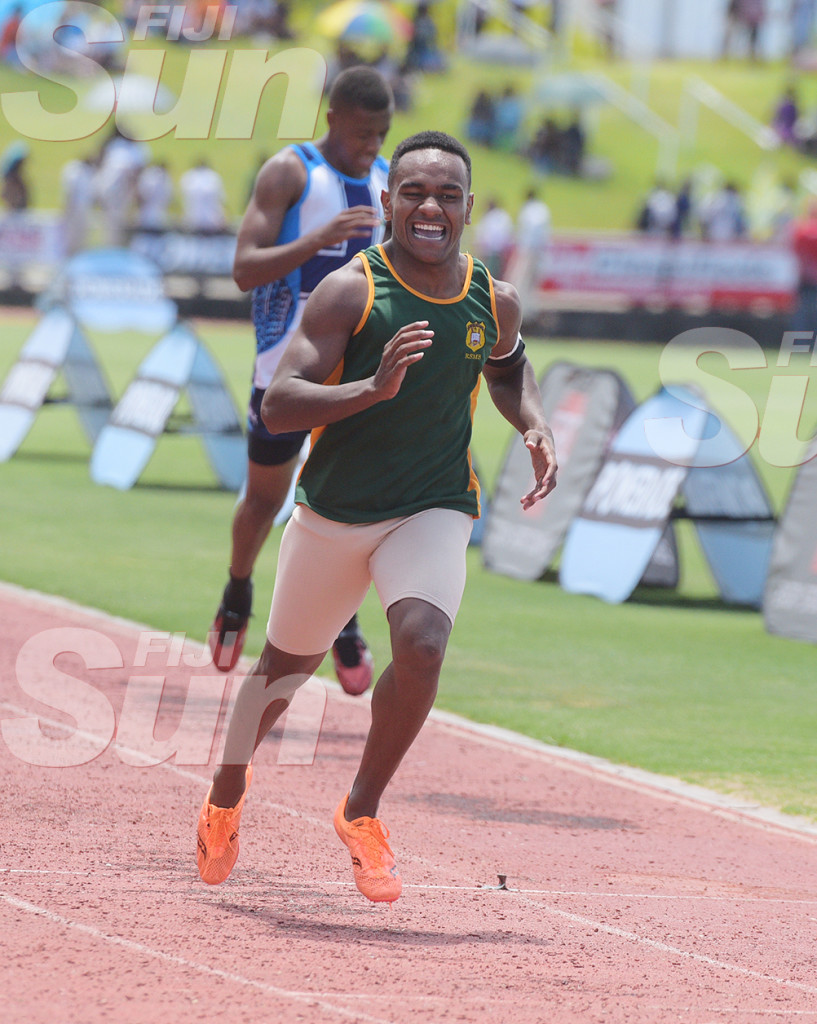 Vereniki Koroi of RSMS during Suva Zone 1 200meters senior boys heats at ANZ Stadium on February 2020. Photo: Ronald Kumar.
