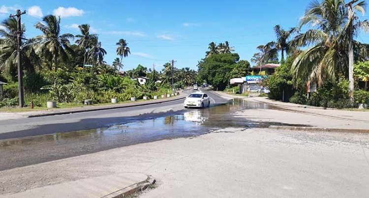 Constant Flow Of Water On Queens Road Worry Residents Near Lami