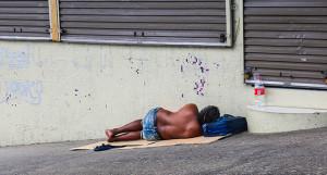 Homeless people sleeping on the streets of Suva on February 17, 2020. Photos: Shalveen Chand