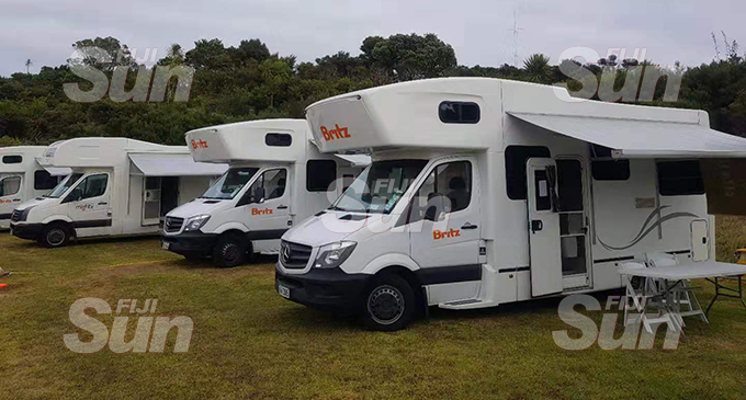 The mobile caravans used to accommodate evacuees from Wuhan City at the Whagaparaoa Military Training Facility in Auckland, New Zealand.