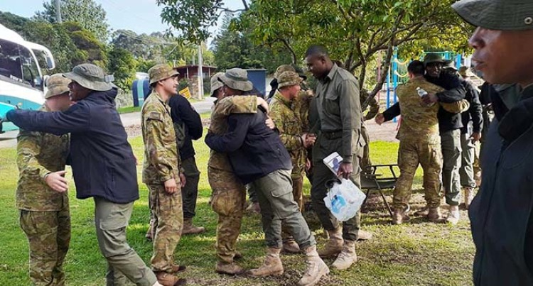 Australia Defence Forces Forces Say Thank You, Farewell Fijian Soldiers