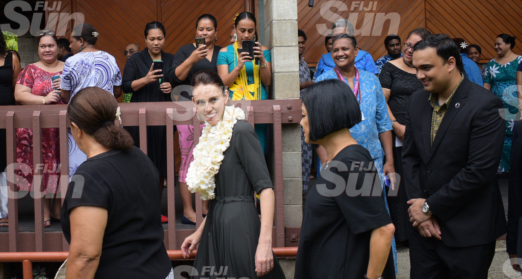 New Zealand Prime Minister Jacinda Ardern while visiting Pacific Island Forum Secretariat in Suva on February 26, 2020. Photo: Ronald Kumar.