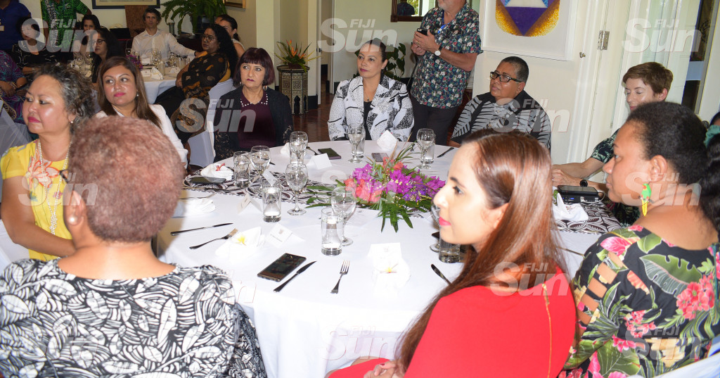 Some of the guest during Women in Leader's meet at New Zealand High Commissioner's resident on February 26, 2020. Photo: Ronald Kumar.