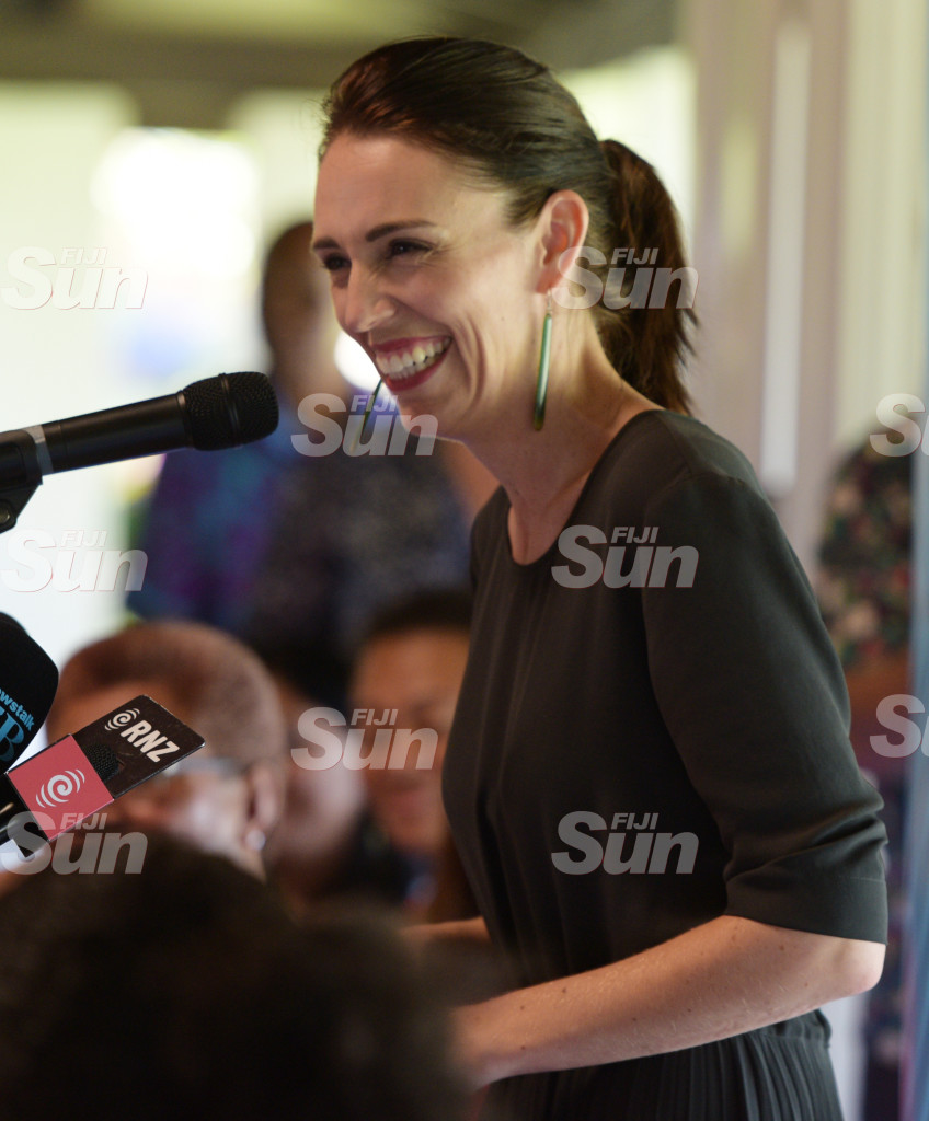 New Zealand Prime Minister Jacinda Ardern While speaking at Women leaders launch function a New Zealand High Commissioners residence on February 26, 2020. Photo: Ronald Kumar.
