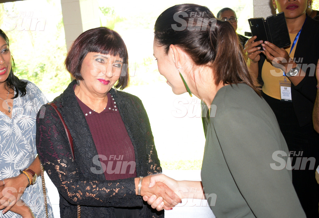 Dr. nur Bano Ali with New Zealand Prime Minister Jacinda Ardern during Women leaders launch function a New Zealand High Commissioners residence on February 26, 2020. Photo: Ronald Kumar.