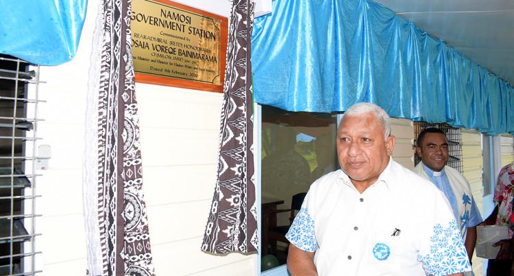Prime Minister Voreqe Bainimarama Opens The Namosi Government Station