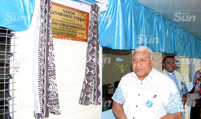 Prime Minister Voreqe Bainimarama opened the Namosi Goverment Station at Dada Namosi on February 4, 2020. Photo: Ronald Kumar.