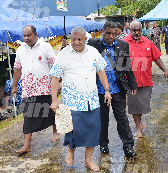 Prime Minister Voreqe Bainimarama following the opening of Namosi Government Station on February 4, 2020. Photo: Ronald Kumar.