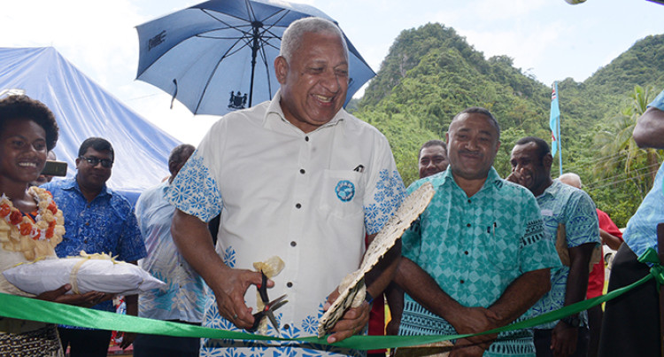 Prime Minister Voreqe Bainimarama Opens New Government Station In Namosi, Easy Access For Villagers