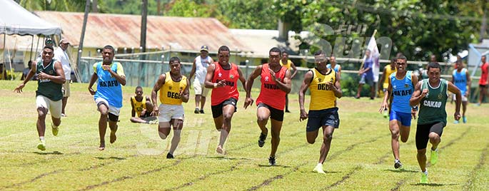 Ratu Kadavulevu School inter-house senior boys 100 metres heats on February 6, 2020. Photo: Ronald Kumar